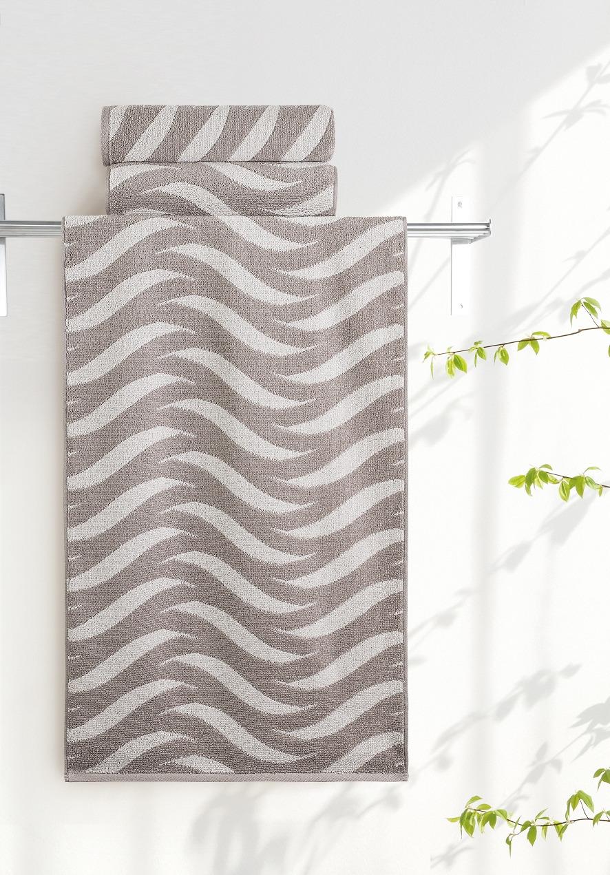 Полотенце Aquarelle Бергамо 2, цвет: мокко, бежевый, 70 х 140 см полотенце махровое aquarelle волна цвет ваниль 70 x 140 см