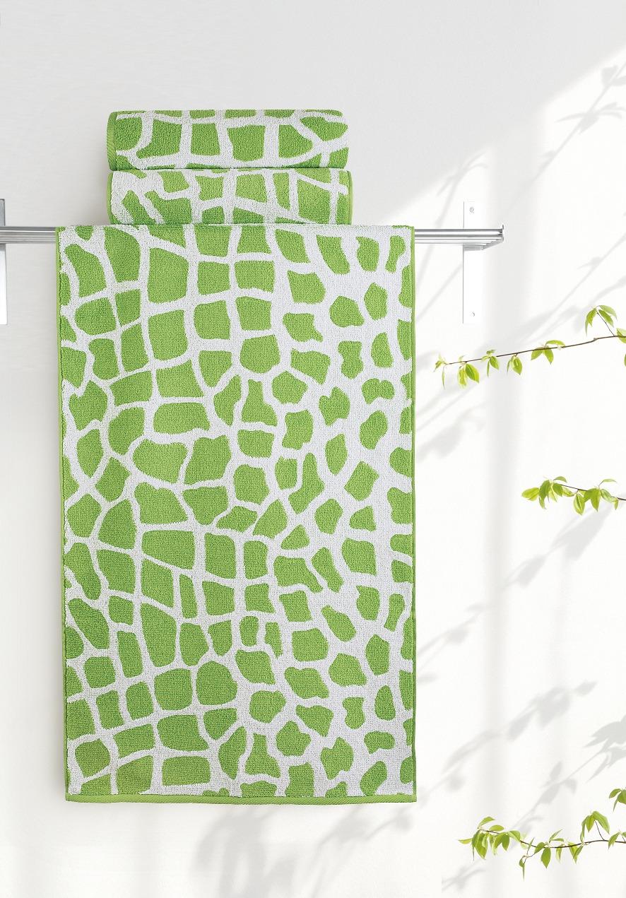 Полотенце Aquarelle Мадагаскар. Жираф, цвет: белый, травяной, 50 х 90 см полотенце aquarelle стамбул 70x140cm white blue 710397