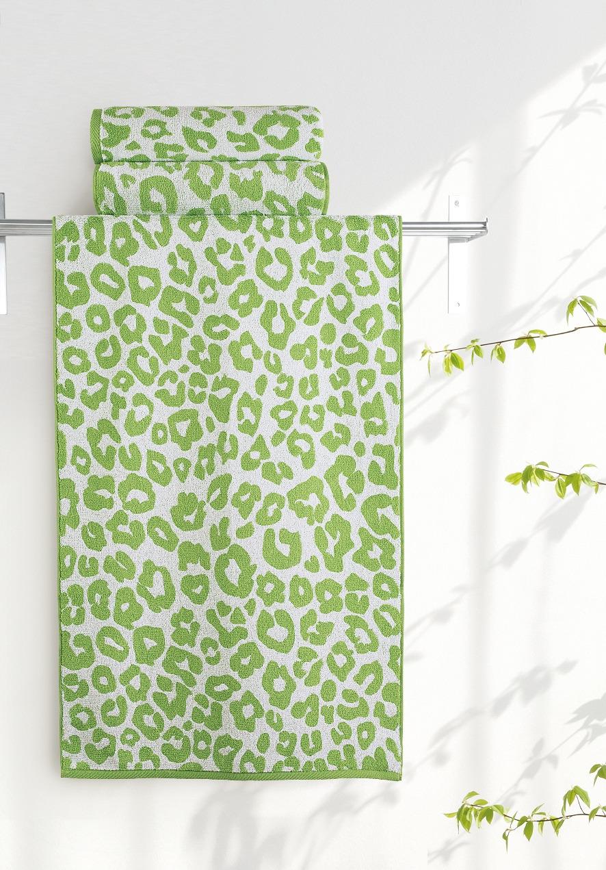 Полотенце Aquarelle Мадагаскар. Леопард, цвет: белый, травяной, 70 х 140 см полотенце махровое aquarelle волна цвет ваниль 70 x 140 см
