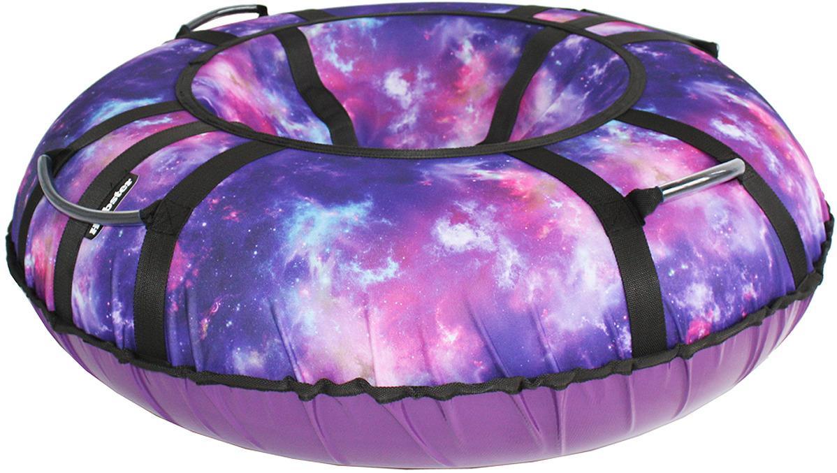 Тюбинг Hubster Люкс Pro Галактика, во5135-2, фиолетовый, диаметр 105 см тюбинг hubster ринг pro во4785 1 красный синий диаметр 90 см