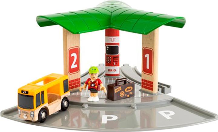 Игровой набор Brio Станция 2в1: Авто и железнодорожный вокзал, 33427 игровой набор праздничный поезд с клоуном brio
