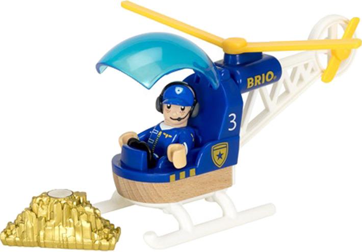 Игровой набор Brio Полицейский вертолет, 33828, 3 элемента игровой набор brio полицейский вертолет 3 эл 19х9х13см кор