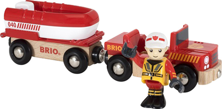 Игровой набор Brio Машина с прицепом, 33859 набор brio автокар красный 33893