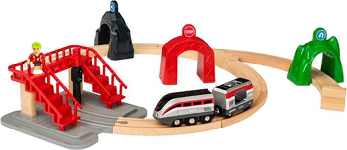 Игровой набор Brio Smart Tech Железнодорожный набор, 33873, 17 элементов игровой набор brio smart tech железнодорожный набор 33873 17 элементов