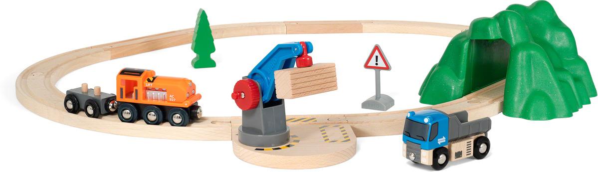 Игровой набор Brio Погрузо-разгрузочный железнодорожный набор, 33878 игровой набор brio smart tech железнодорожный набор 33873 17 элементов