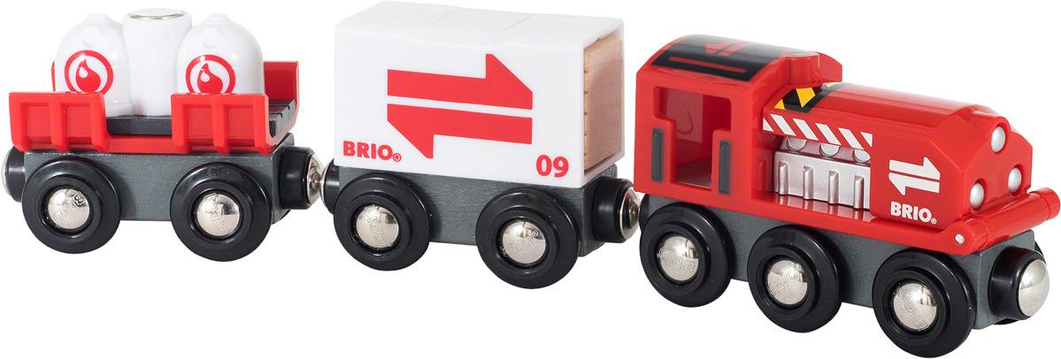 Игровой набор Brio Грузовой поезд, 33888, 7 элементов поезд brio экспресс с машинистом с 3 х лет