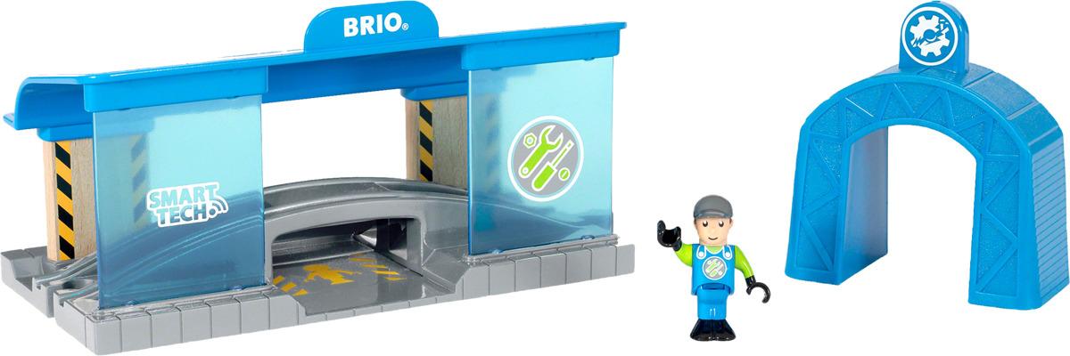Игровой набор Brio Smart Tech Вагоноремонтная мастерская, 33918, 3 элемента игровой набор brio smart tech железнодорожный набор 33873 17 элементов