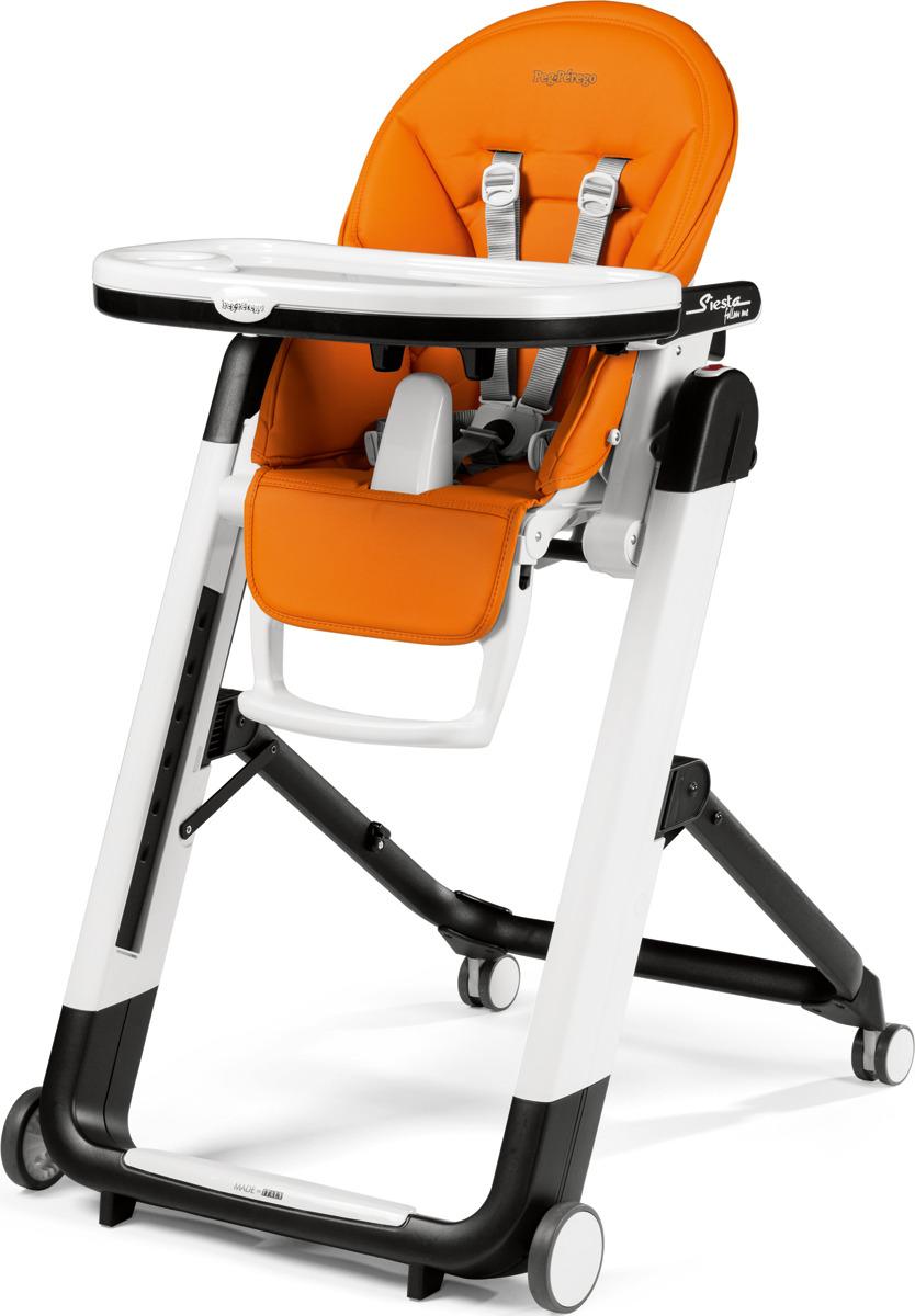 цена на Стульчик для кормления Peg-Perego Siesta Follow Me Arancia, цвет: оранжевый