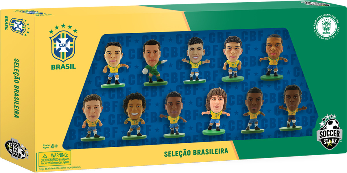Фигурка SoccerStarz Набор футболистов Сборная Бразилии Brazil 11 Player Team Pack , 202561