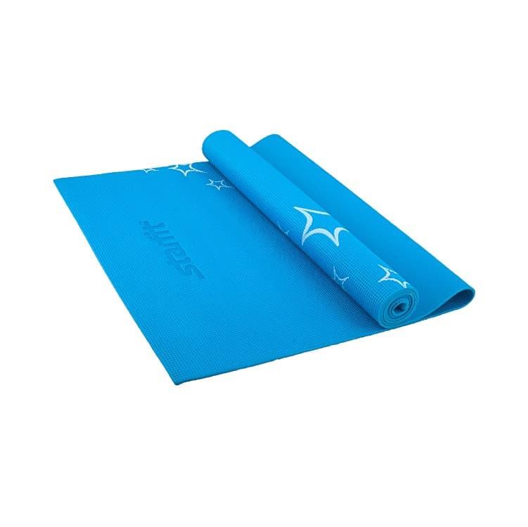 Коврик для йоги Starfit FM-102, УТ-00007242, синий, 173x61x0.5 смУТ-00007242Коврик FM-102 предназначен для занятий йогой и фитнесом. Легкий, универсальный, красивых насыщенных оттенков. Изготовлен из ПВХ, не вызывает раздражения на коже. Армирован специальной текстильной сеткой, которая сдерживает растяжение коврика и препятствует разрывам поверхности. Рисунок в виде белых звезд. Рассчитан на нагрузки средней интенсивности. На коврике следует заниматься без обуви. Помимо йоги может использоваться для фитнес-тренировок, выполнения упражнений по растяжке (стретчингу). Перед первым использованием новый коврик рекомендуется протереть влажной тканью с мылом. Характеристики: Тип: коврик для йоги и фитнеса Материал: ПВХ (Поливинилхлорид) Длина, см: 173 Ширина, см: 61 Толщина, см: 0,3 Цвет: синий, с рисунком Диаметр коврика в сложенном состоянии, см: 9 Количество в упаковке: 1 Вес без упаковки, кг: 0,78 Вес в упаковке, кг: 0,8 Производитель: КНР Вес брутто: 0.874 кг.