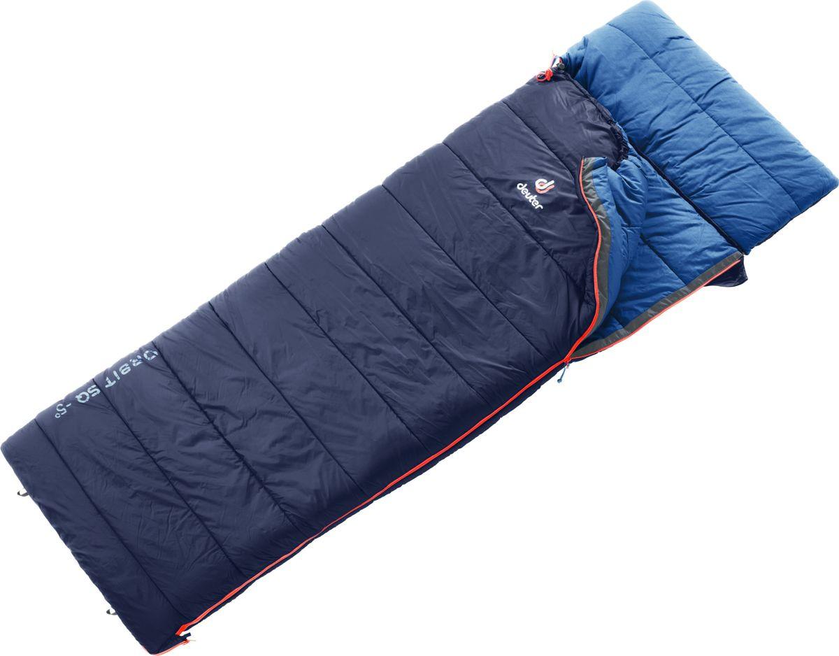 Спальный мешок Deuter Orbit SQ +5, правый, 3702019_3320, темно-синий, темно-серый
