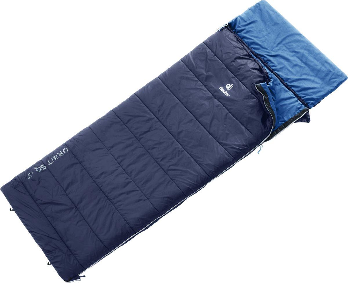 Спальный мешок Deuter Orbit SQ +5, левый, 3702019_3320, темно-синий, темно-серый