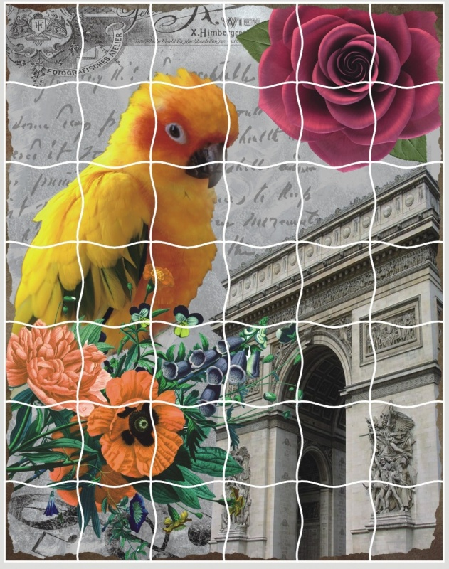 цены Пазл для малышей Color Kit пазлы-стикеры, Волнистый попугайчик