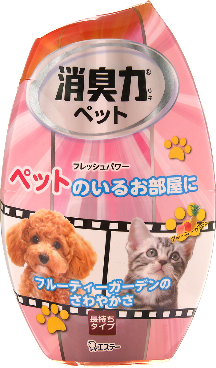 "Дезодорант-ароматизатор для комнат ST ""Shoushuuriki"", против запаха домашних животных, c ароматом фруктового сада, 400 мл"