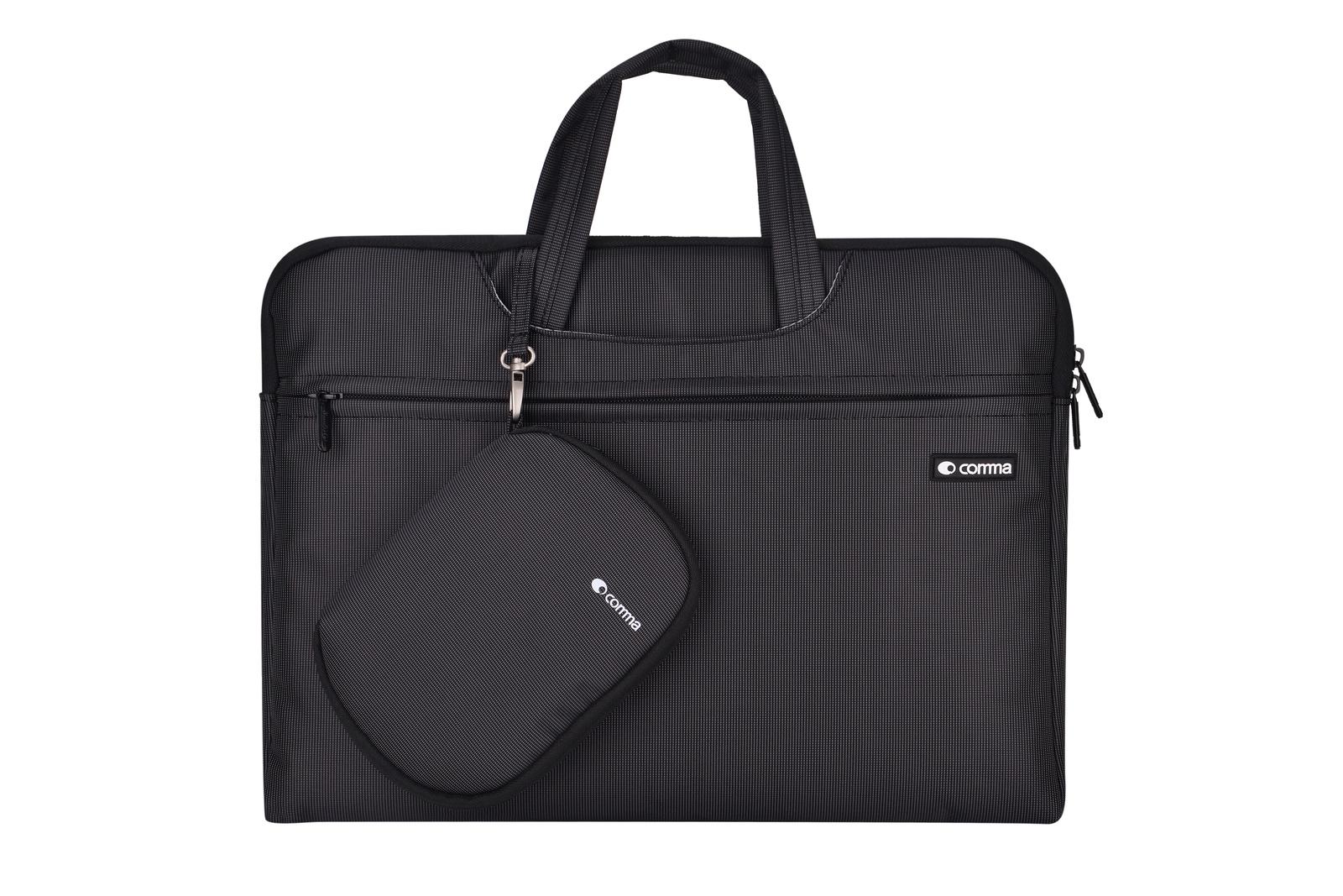 Сумка для ноутбука Comma Dexter Laptop Bag универсальная на 15,4 дюймов + коврик для мышки, черный ноутбуки 17 дюймовые
