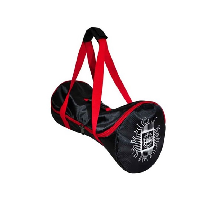 """Сумка-рюкзак Smart Balance """"Карбон"""" для гироскутера 10"""", 10.5 """", s044, черный, красный"""