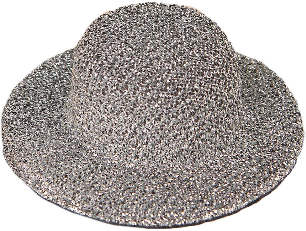 Шляпа для игрушек, 3488149, размер 5 см, серебристый шляпа для игрушек 3488159 размер 10 см красный