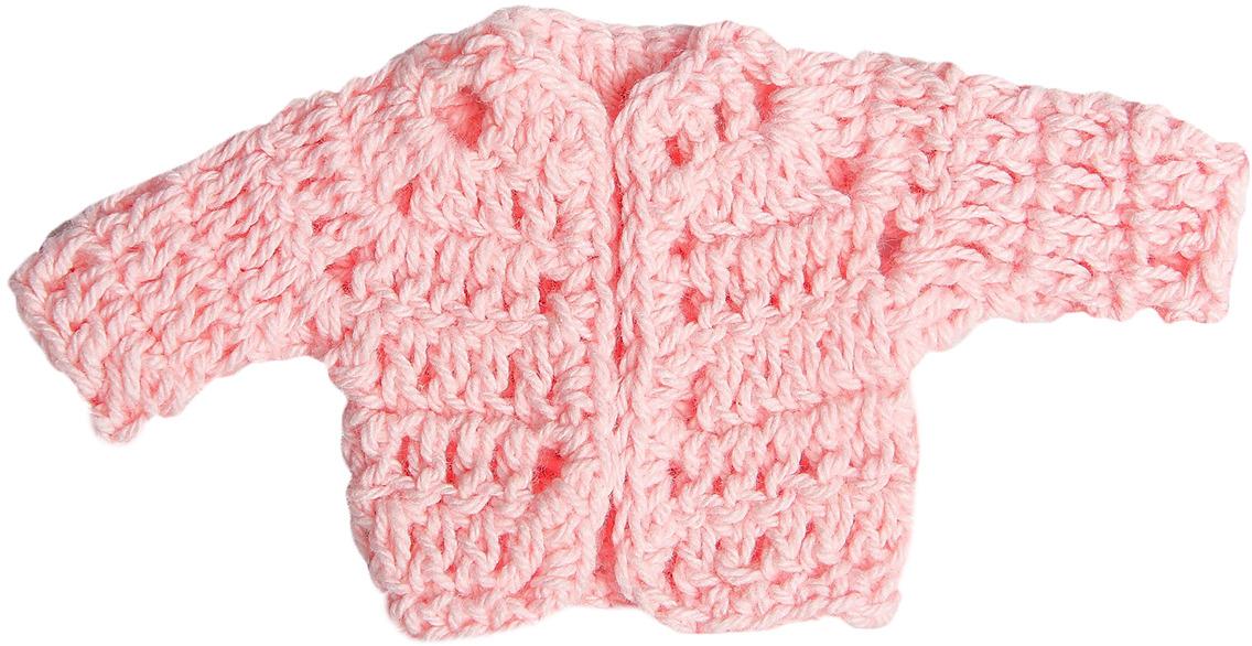 Кофточка для куклы, 3488189, розовый
