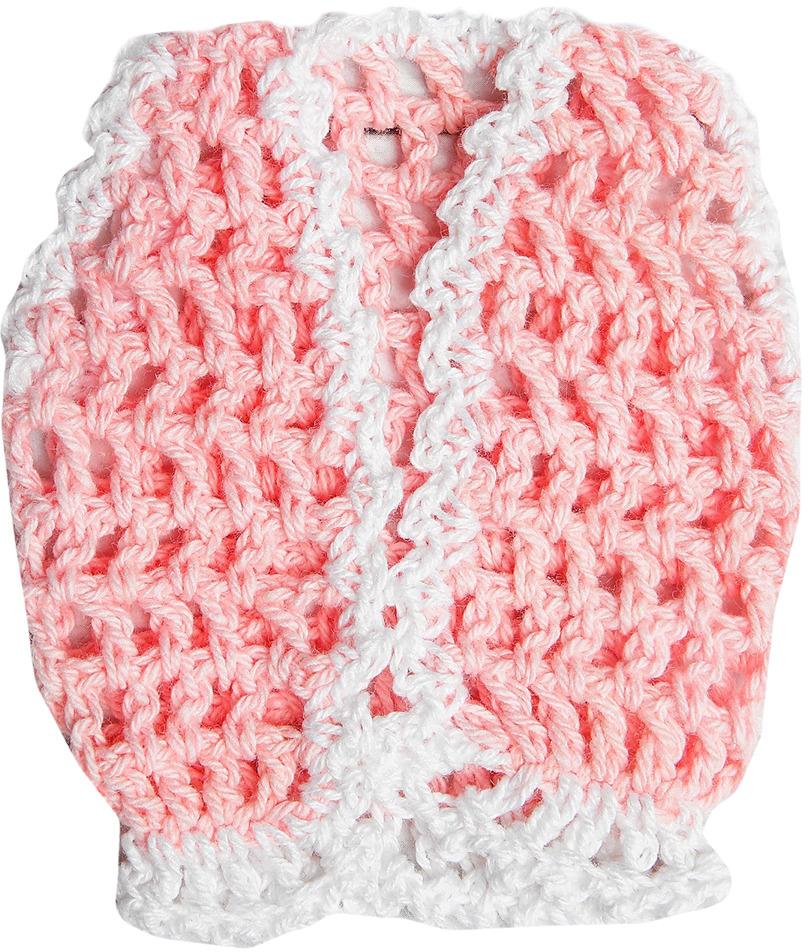 Жилет для куклы, 3488192, розовый, белый