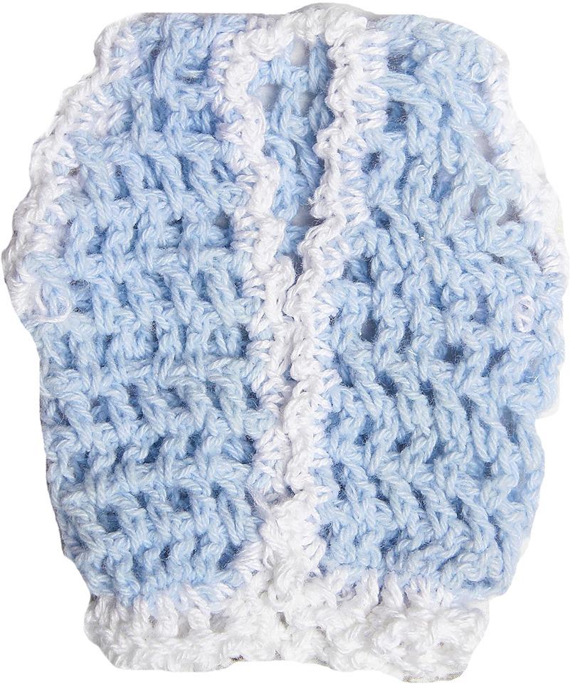 Жилет для куклы, 3488193, голубой, белый