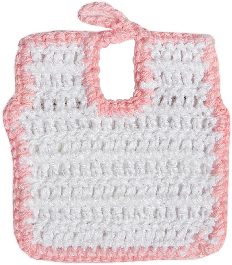 Нагрудник для куклы, 3488198, белый, розовый