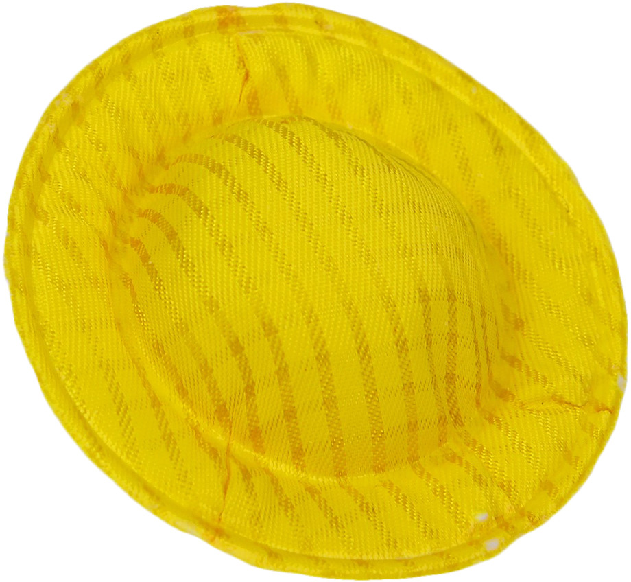 Шляпа для куклы, 3495182, желтый, 10 шт