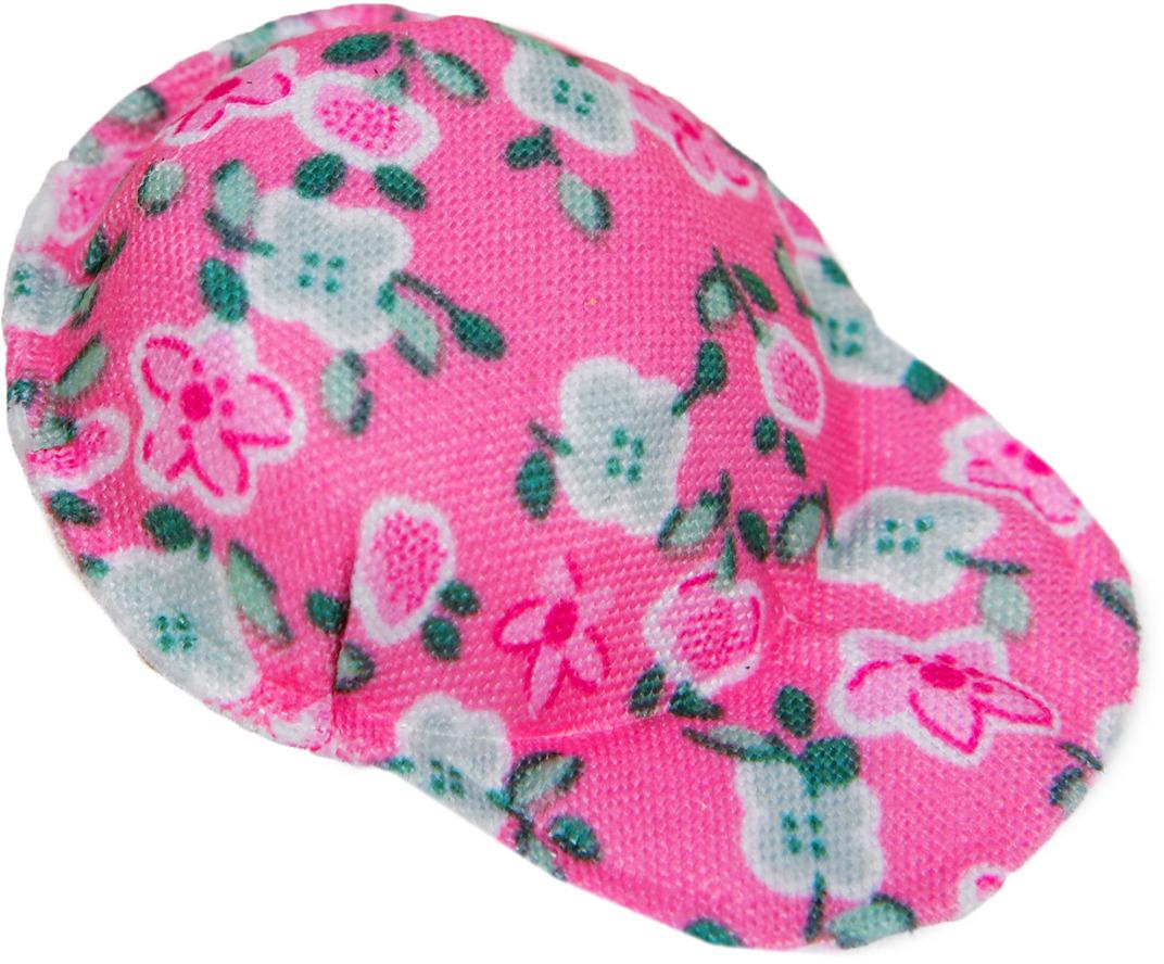 """Кепка для куклы """"Цветочки"""", 3495194, розовый"""