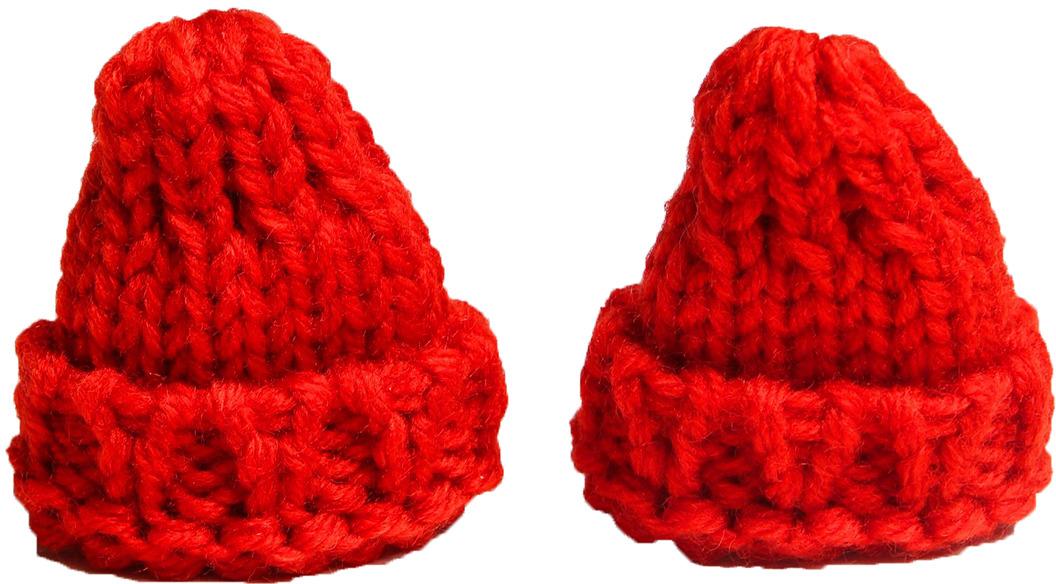 Шапка для игрушек, 3566982, красный, 2 шт