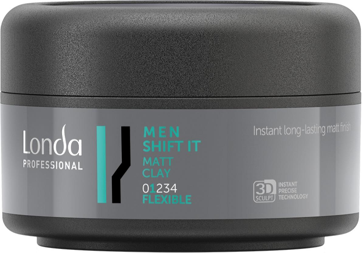 все цены на Матовая глина для волос Londa Professional Men Shift It нормальной фиксации, 75 мл онлайн