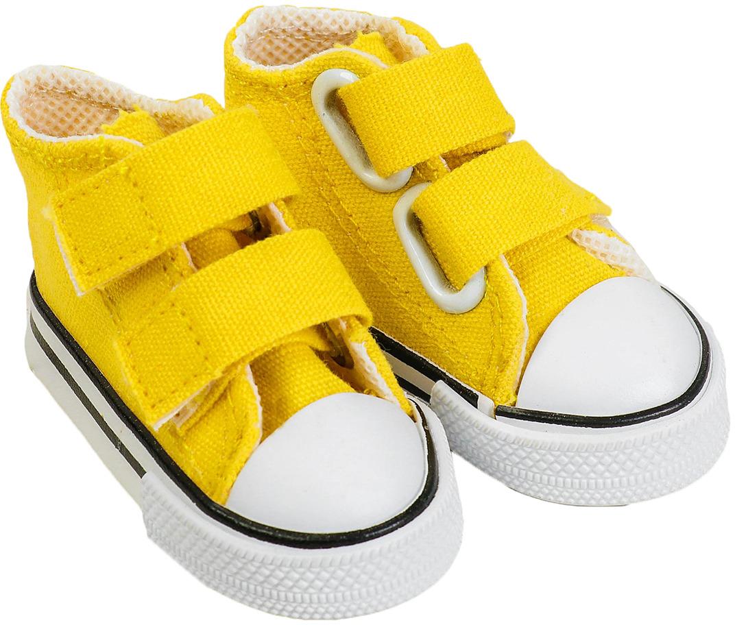 Кеды для куклы, 3785812, на липучках, длина стопы 7,5 см, желтый3785812Все девочки любят играть с пупсами. А у каждого пупса, как у настоящего малыша, должны быть свои наряды и аксессуары. С ними играть станет еще веселее!