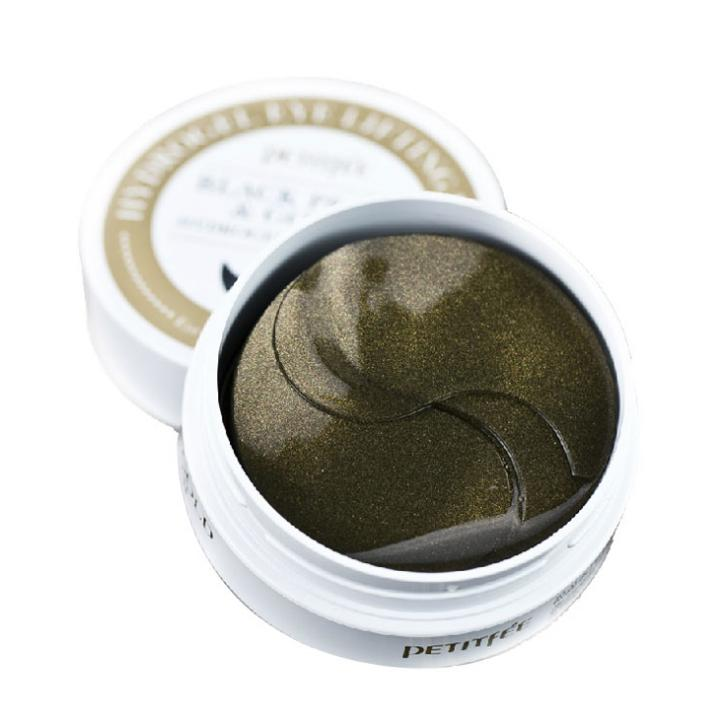 Патчи Petitfee Black Pearl Gold Eye Patch 60