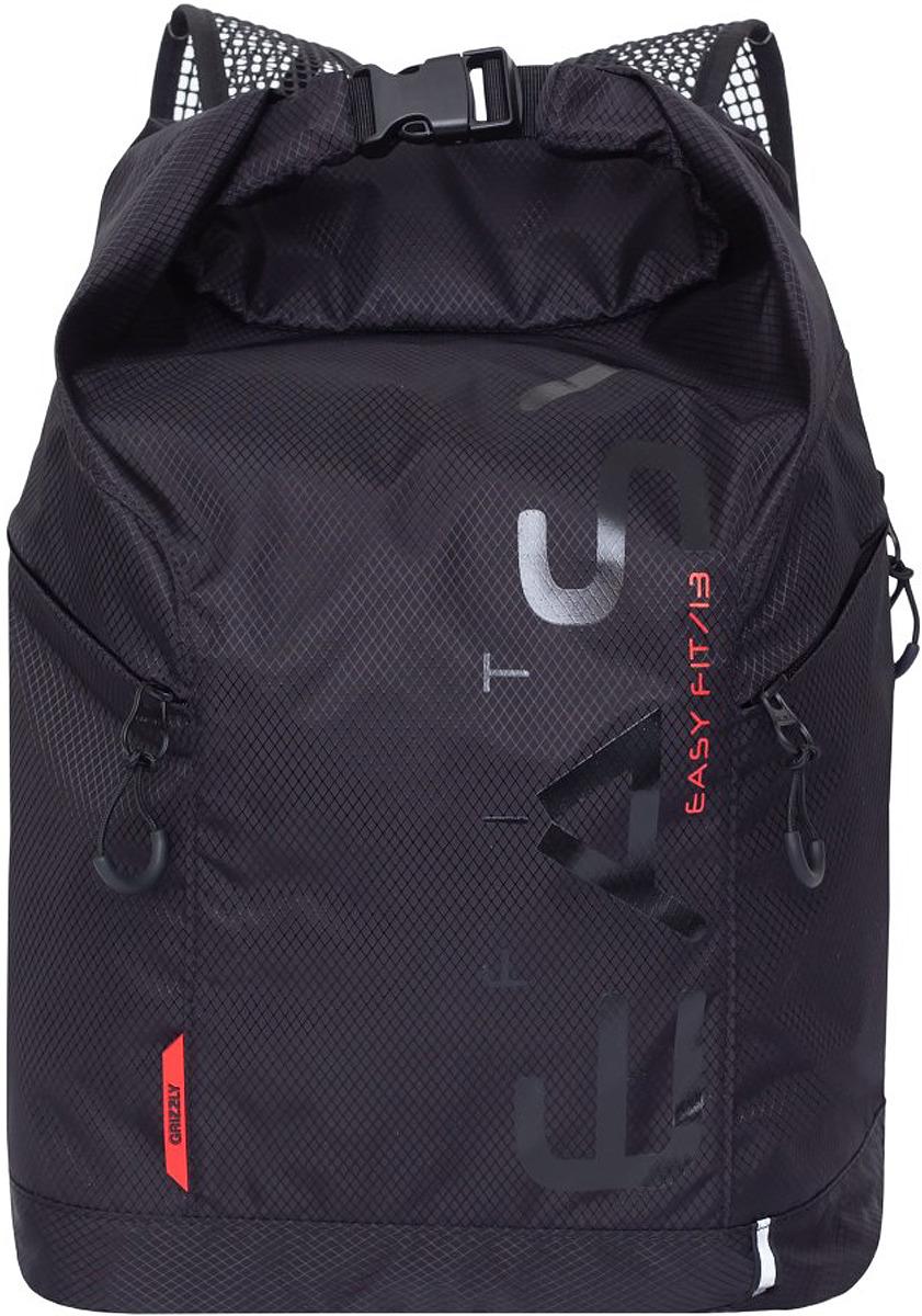 Рюкзак городской Grizzly, RQ-918-1/2, красный, 13 л рюкзак молодежный grizzly 16 л ru 808 2 2