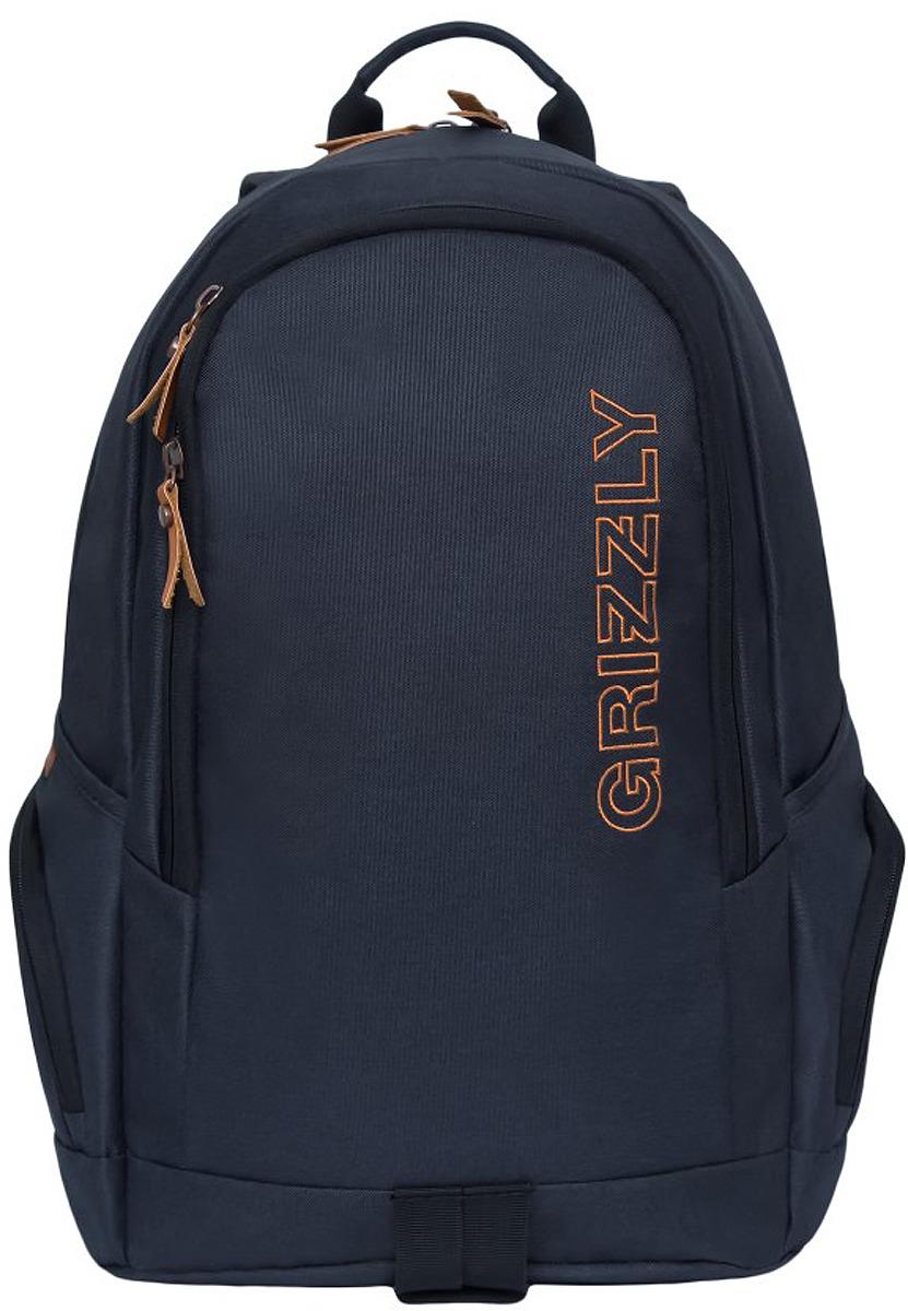 Рюкзак городской Grizzly, RQ-901-1/1, черный, 19 л рюкзак grizzly rq 912 1 1 black