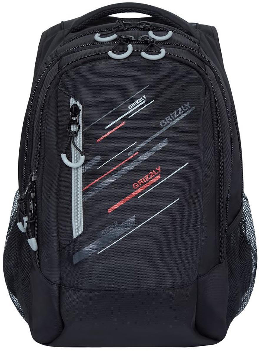 Рюкзак городской Grizzly, RU-934-1/3, серый, 17 л рюкзак discovery 40х28х16см рельефная анатомическая спинка серый