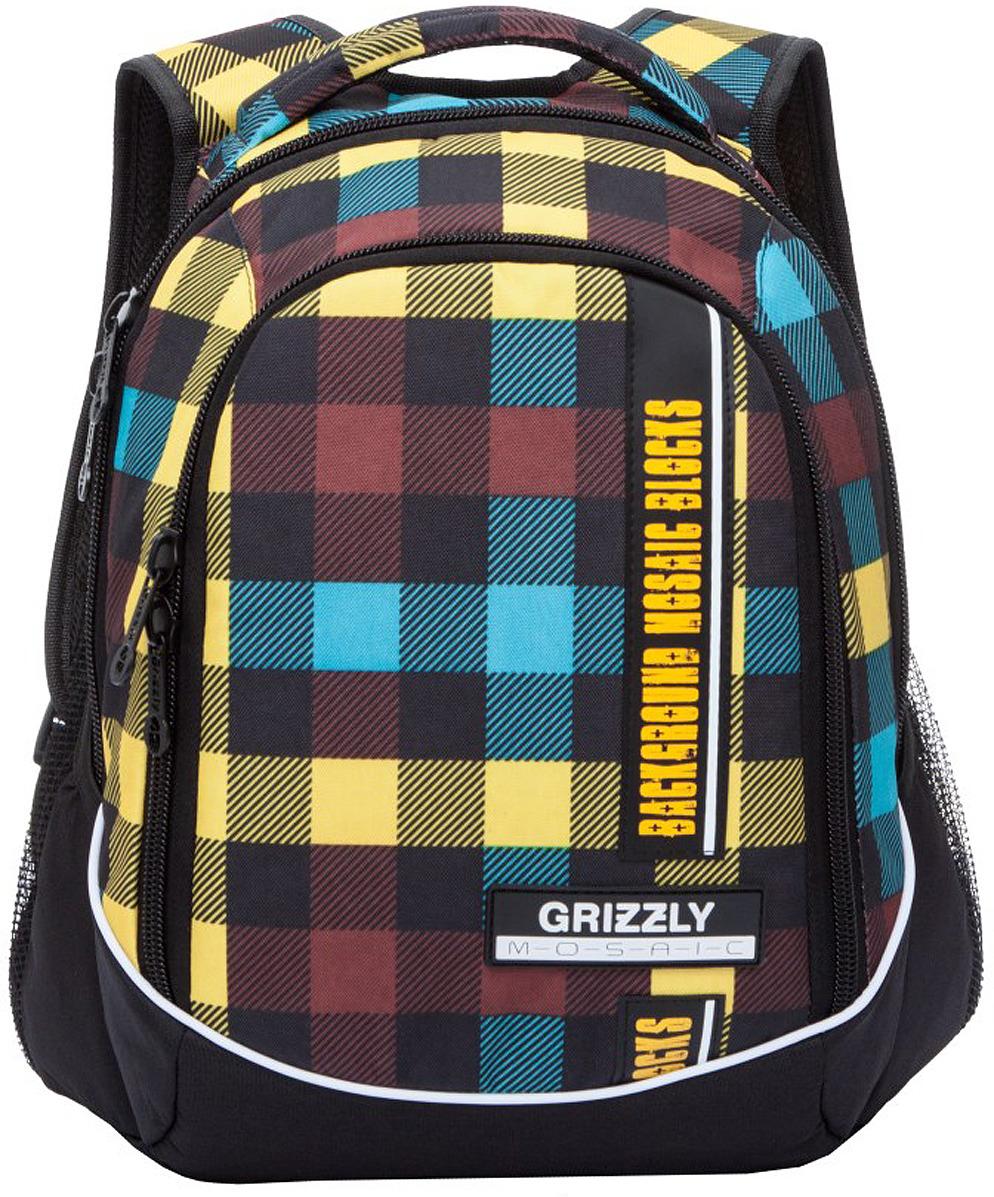 Рюкзак городской Grizzly, RU-925-2/5, разноцветный, 14.5 л рюкзак городской grizzly цвет салатовый коричневый 23 л ru 619 2 2