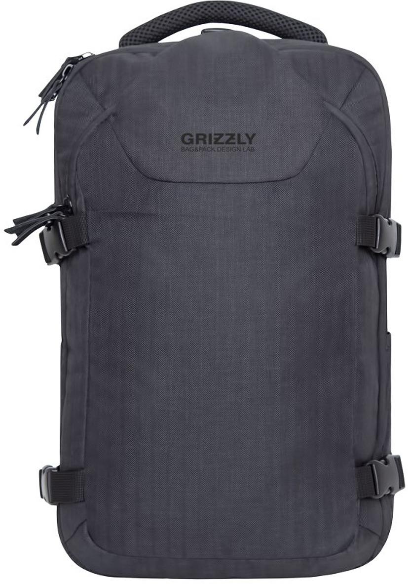 Рюкзак городской Grizzly, RQ-914-1/1, черный, 17 л рюкзак grizzly rq 912 1 1 black