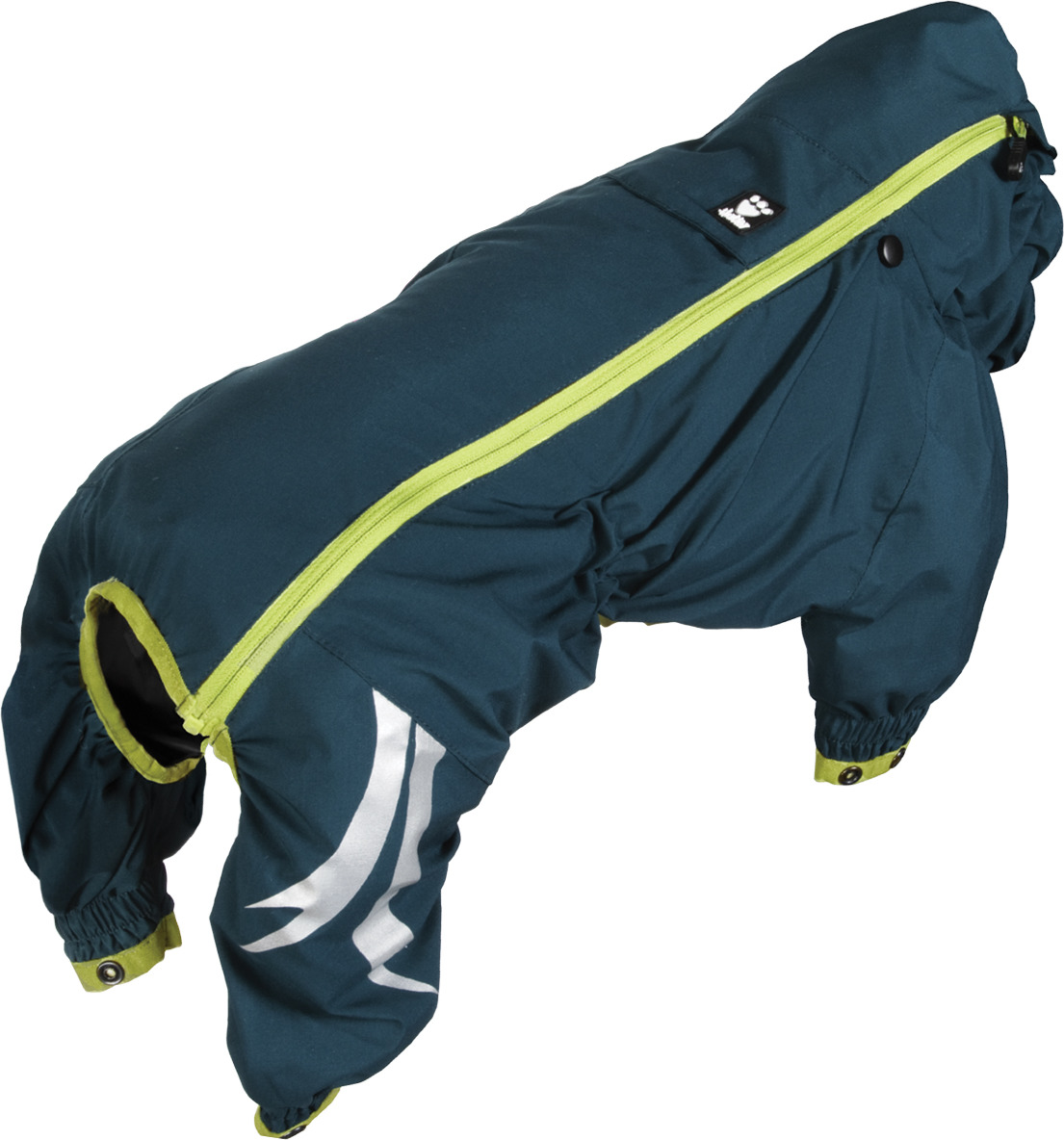 Комбинезон для собак Hurtta Slush Combat, 931377, синий, зеленый. Размер 30S