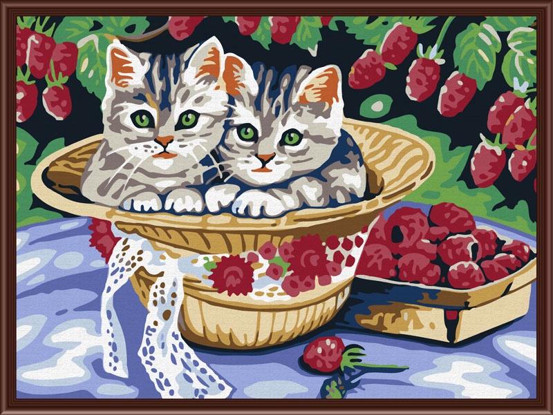 Картина по номерам Color Kit Раскраски по номерам ТМ, Котята в саду туфли pierre cardin pierre cardin mp002xw1ie2z