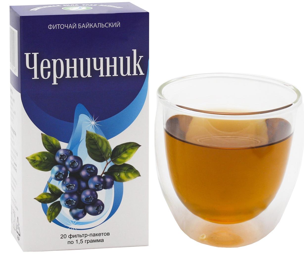 Фото - Чай в пакетиках Фиточаи Байкальские Черничник противовоспалительный, 20 шт по 1.5 г чай в пакетиках фиточаи байкальские женский лечебный с боровой маткой 20 шт по 1 5 г