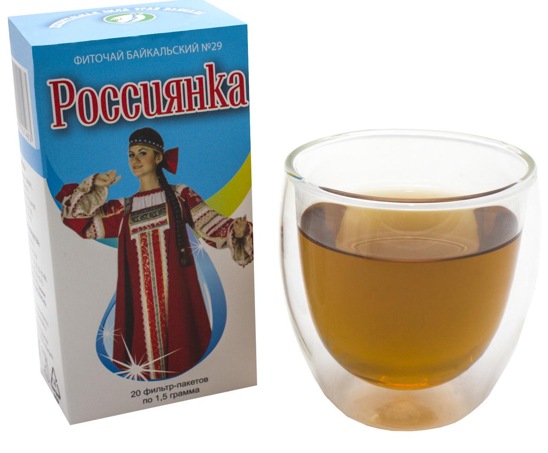 Фото - Чай в пакетиках Фиточаи Байкальские Россиянка для женщин, 20 шт по 1.5 г чай в пакетиках фиточаи байкальские женский лечебный с боровой маткой 20 шт по 1 5 г