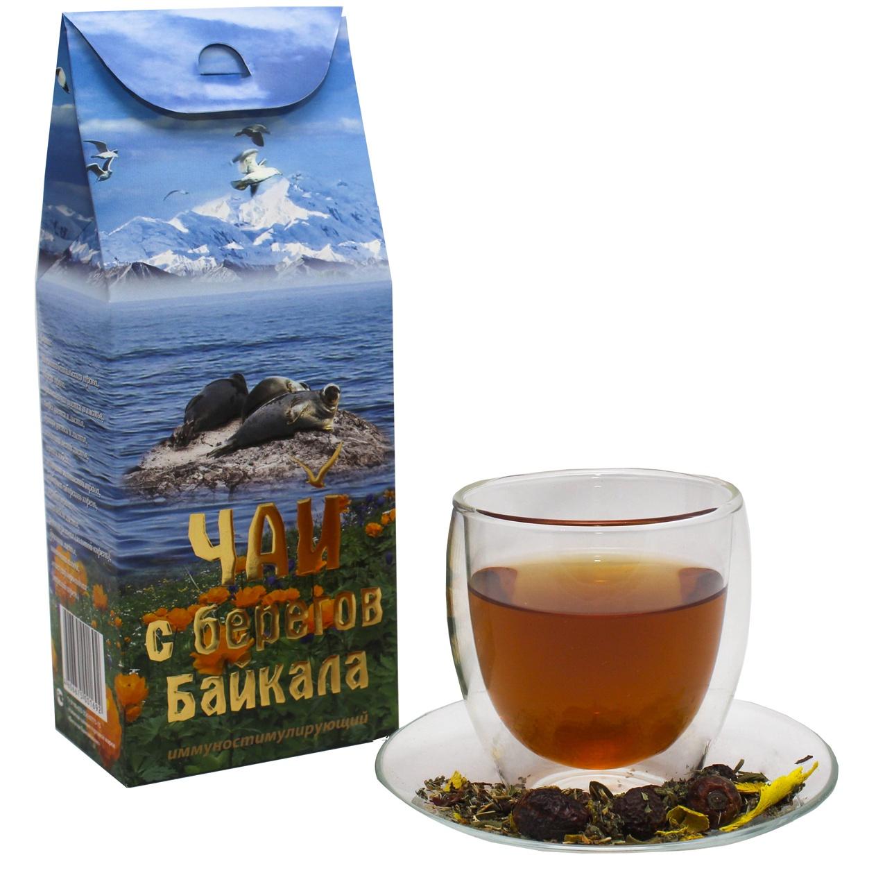 Чай листовой Фиточаи Байкальские С Берегов Байкала иммуностимулирующий, 100 г цена