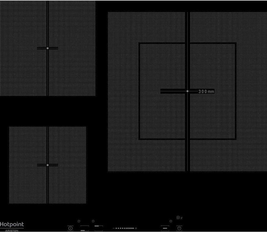 Варочная панель Hotpoint-Ariston KIS 630XLD B, электрическая, черный