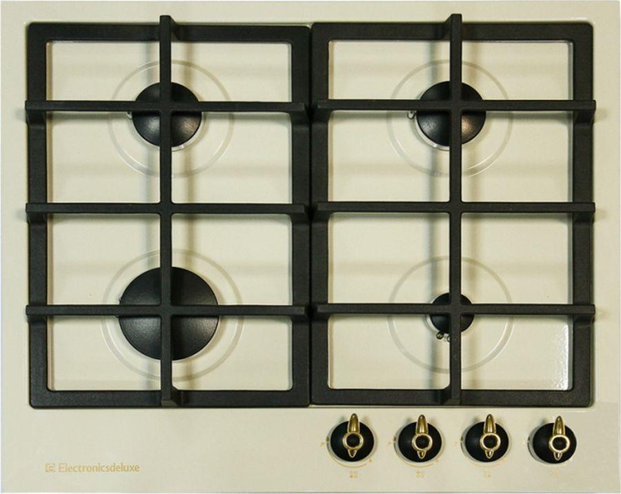 Варочная панель Electronicsdeluxe TG4_750231F-022, газовая, бежевый