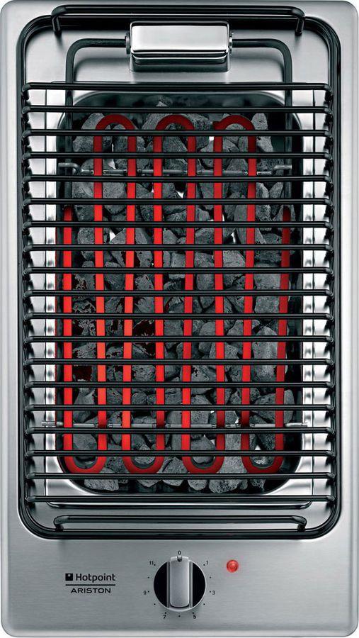 Варочная панель Hotpoint-Ariston DK B (IX) /HA, черный электрический гриль hotpoint ariston dk b ix гриль независимая серебристый