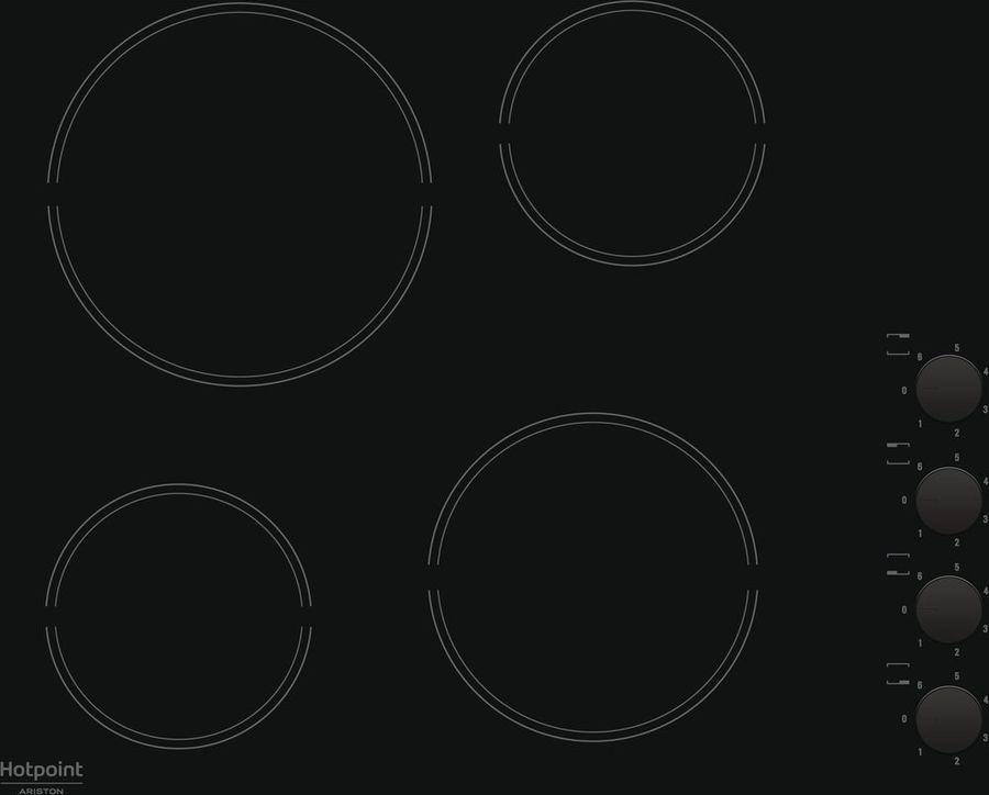 Варочная панель Hotpoint-Ariston HR 629 C, черный варочная панель hotpoint ariston hr 603 x