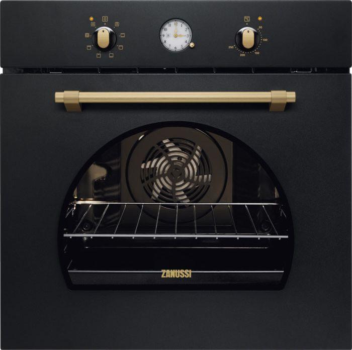 Духовой шкаф Zanussi OPZB 2300R, электрический, встраиваемый, черный