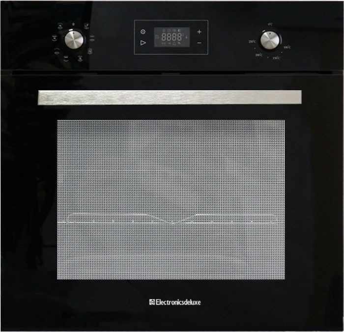 Духовой шкаф Electronicsdeluxe 6009.03эшв-023, электрический, встраиваемый, черный цена и фото