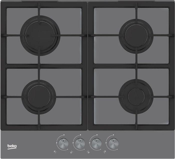 Варочная панель Beko HILG 64225 SZG, черныйHILG 64225 SZGВарочная панель Beko HILG 64225SZG имеет поверхность иззакаленного стекла черного цвета, закоторым легко ухаживать. Отблески огня красиво отражаются встеклянной поверхности. Горелки зажигаются поворотом переключателя. Чугунные решетки нескользят поповерхности инадежно удерживают посуду. Газ-контроль обеспечивает безопасность.
