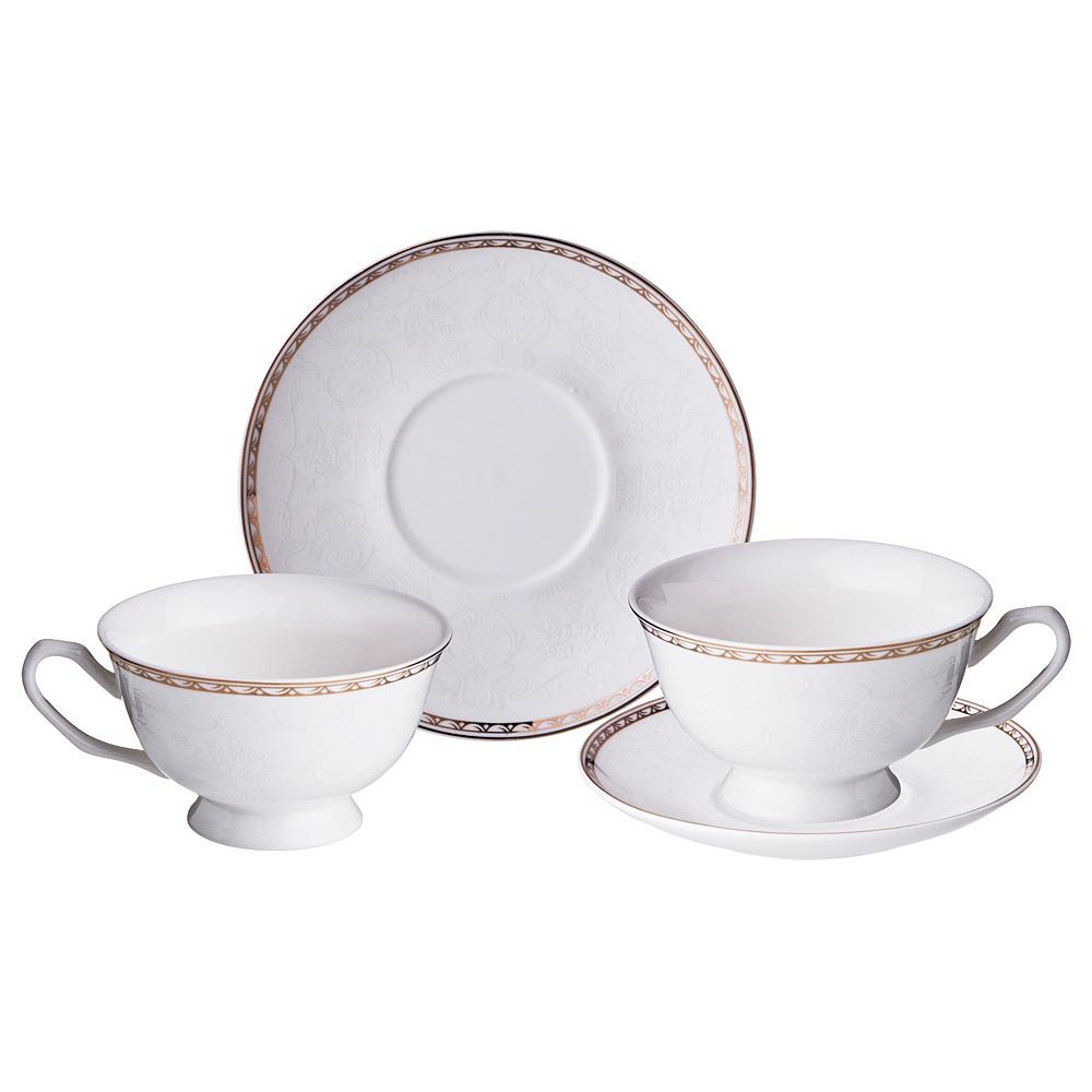 Набор чайный Lefard Вуаль на 2 персоны, LF-165/441, 220 мл набор чайный на 2 персоны c622as622a l6 yg01 2 розовый 4 предмета