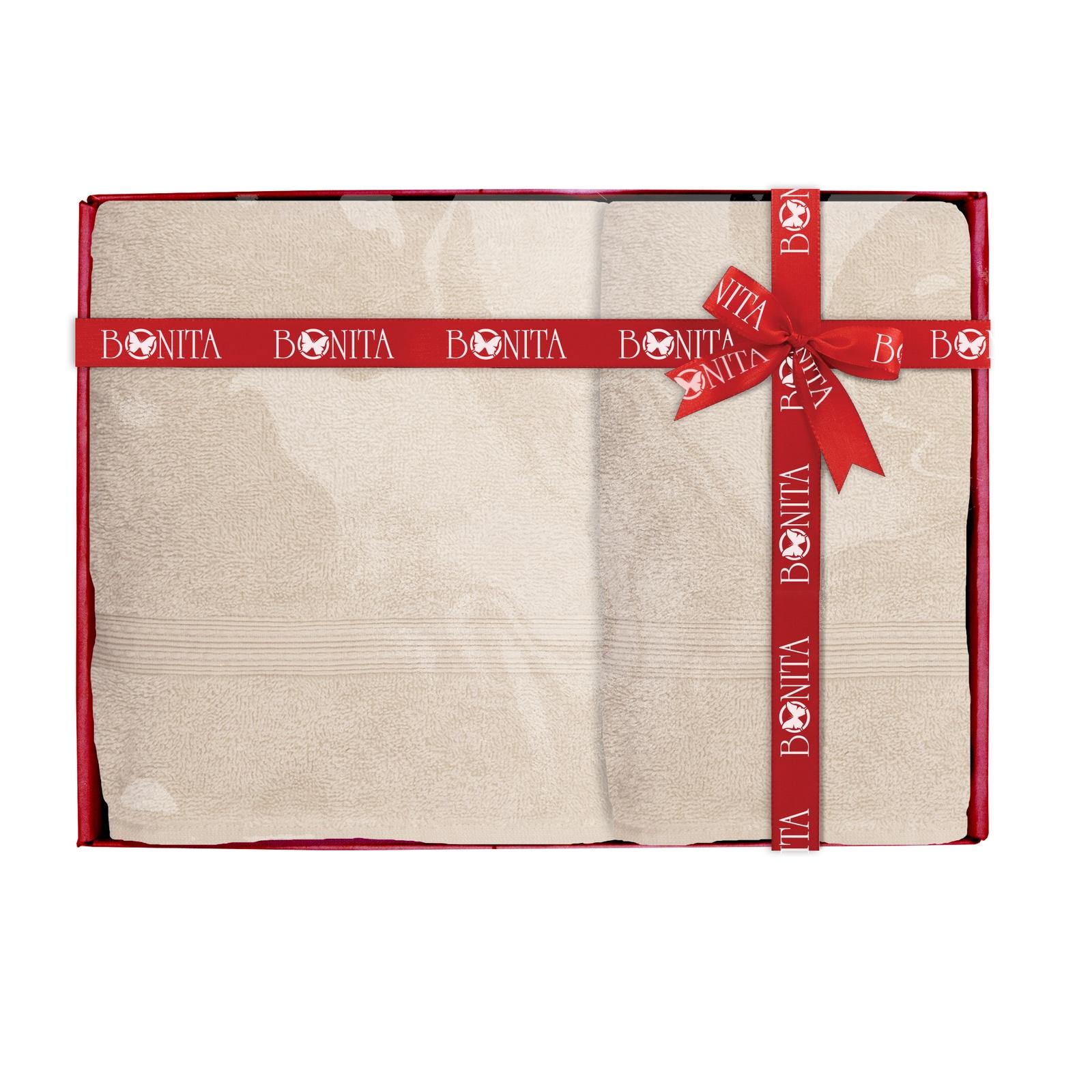 Полотенце банное Bonita Classic махровое, 21011218280, бежевый, 2 шт набор банных полотенец bonita classic цвет светло бежевый 70 х 140 см 2 шт